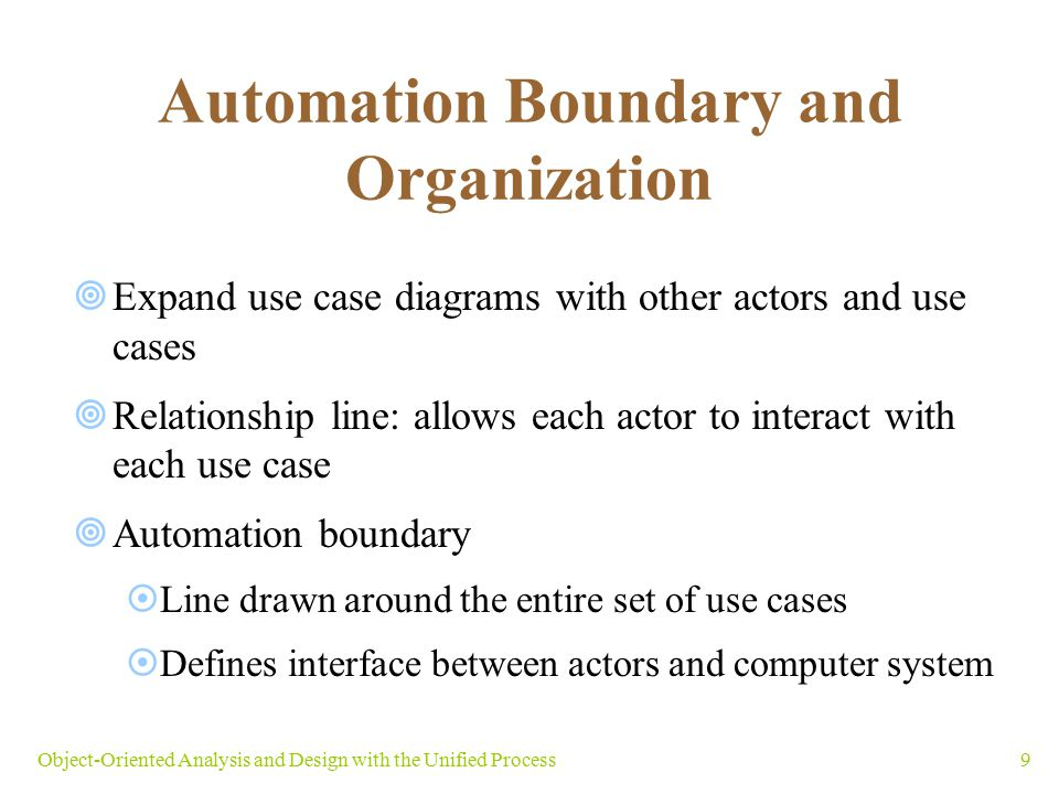Automation Boundary and Organization