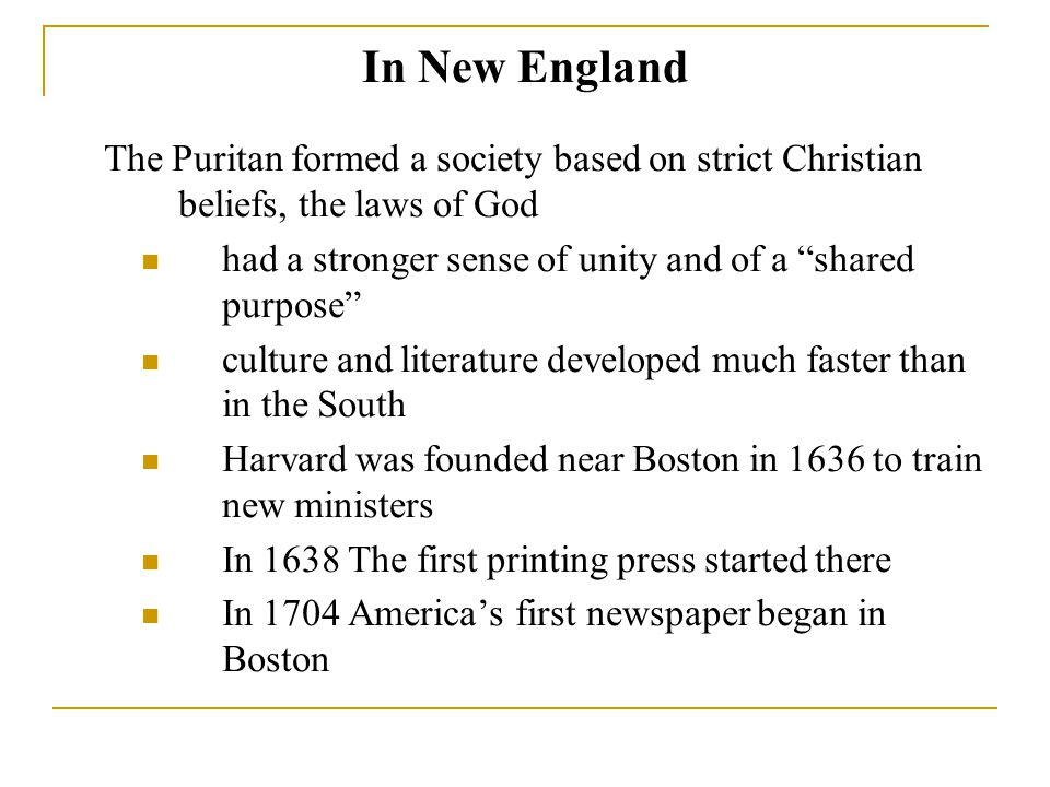 Puritans influences on American culture?
