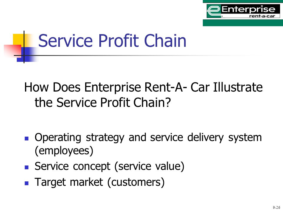 service profit chain of enterprise rent a car Gaucho steak restaurant chain on brink of collapsing into  this is money's pick of the top  the chirpy clerk at the enterprise car hire desk began by.