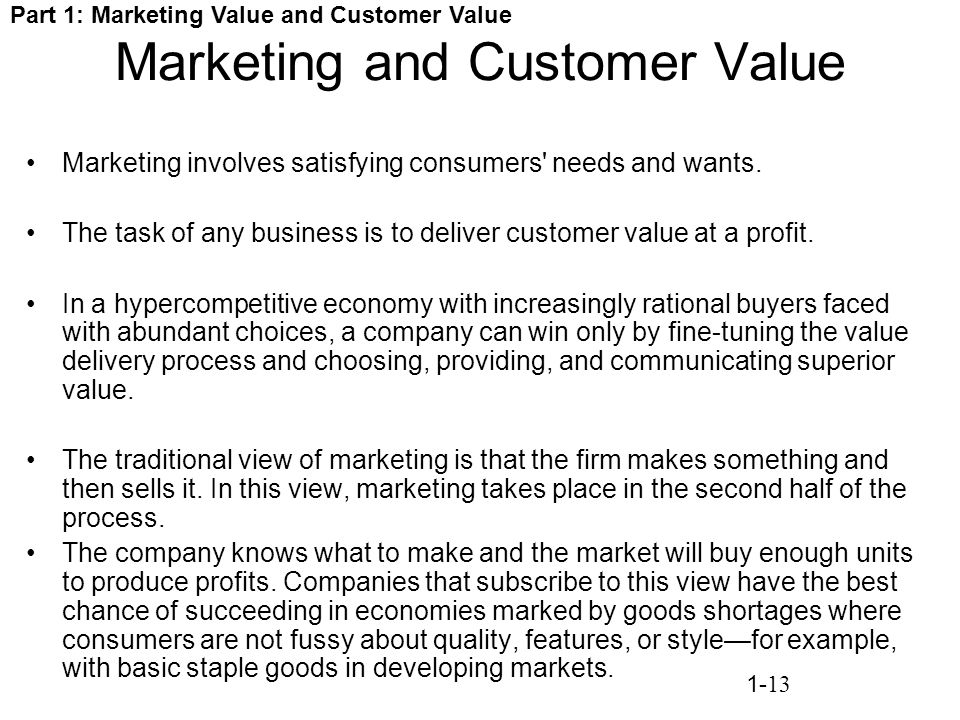 marketing involves satisfaction of consumer needs' Customer satisfaction is essential customer satisfaction is an abstract concept and involves such go to ceoe marketing: brand positioning & consumer.