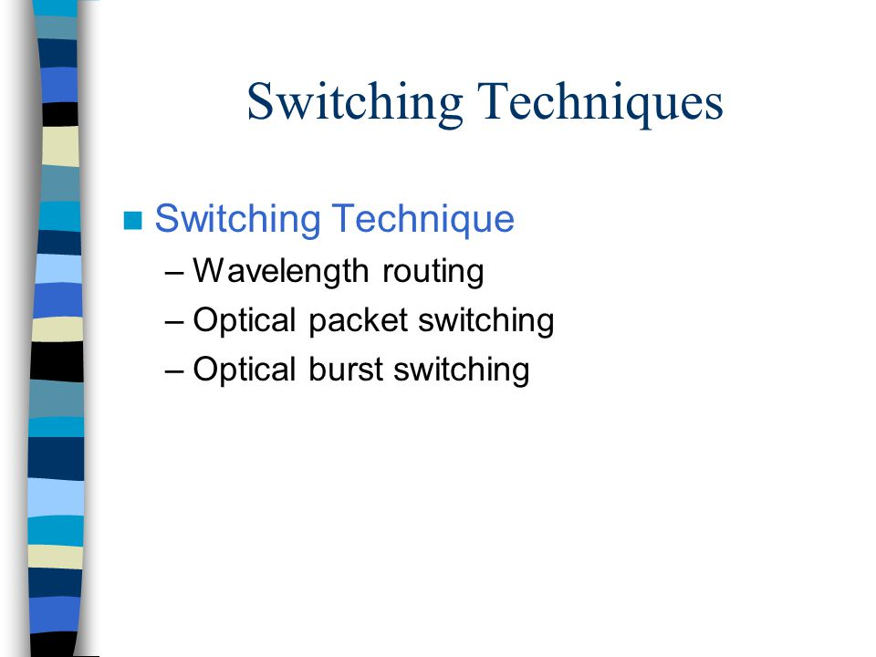 optical burst switching thesis Label-controlled optical switching nodes vegas been studied in this thesis migration scenarios from optical circuit switching towards optical burst switching.