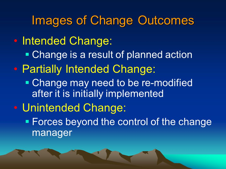 "The following manager ""image"" of change would most likely be"