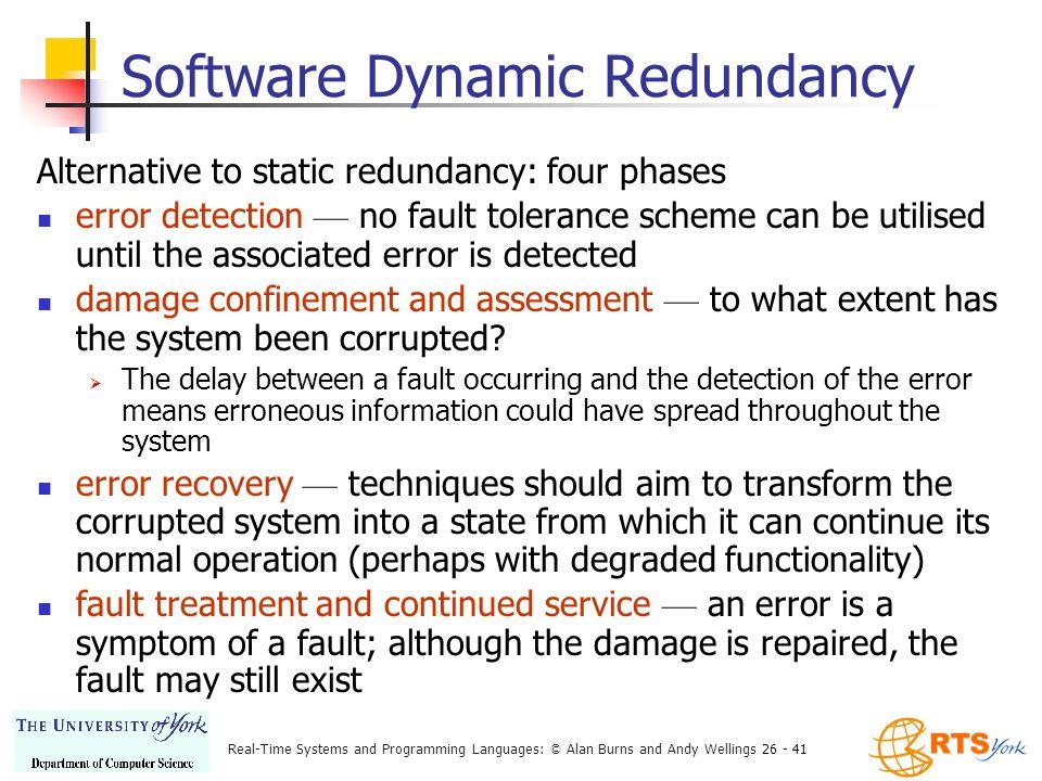 redundancy and fault tolerance 容错是分布式中一个重要的话题,分布式系统中的容错主要指系统能在部分出现fault的情况下,正确的进行处理错误,保证系统运行 我们不妨从最基本的redundancy.