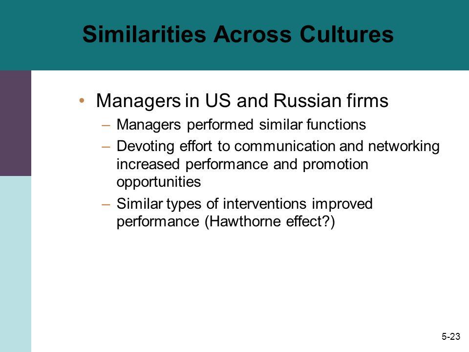 Similarities Across Cultures