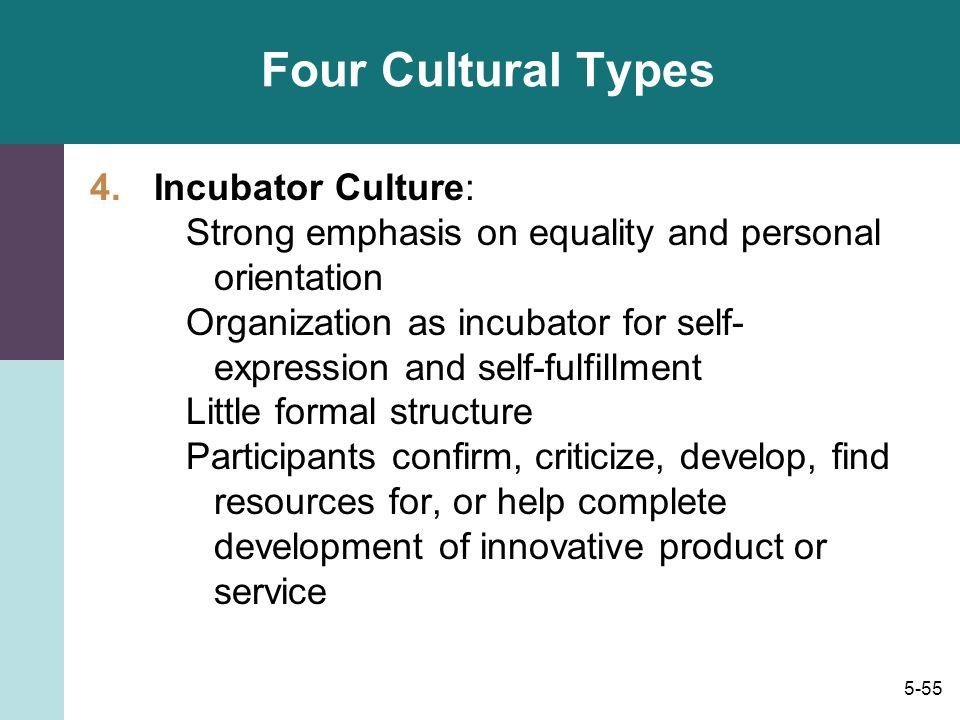 Four Cultural Types Incubator Culture: