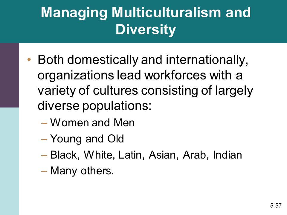 Managing Multiculturalism and Diversity
