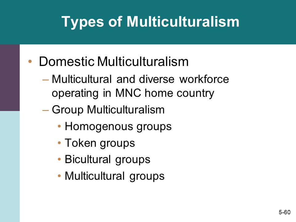 Types of Multiculturalism
