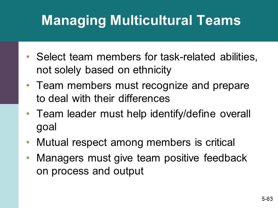 Managing Multicultural Teams