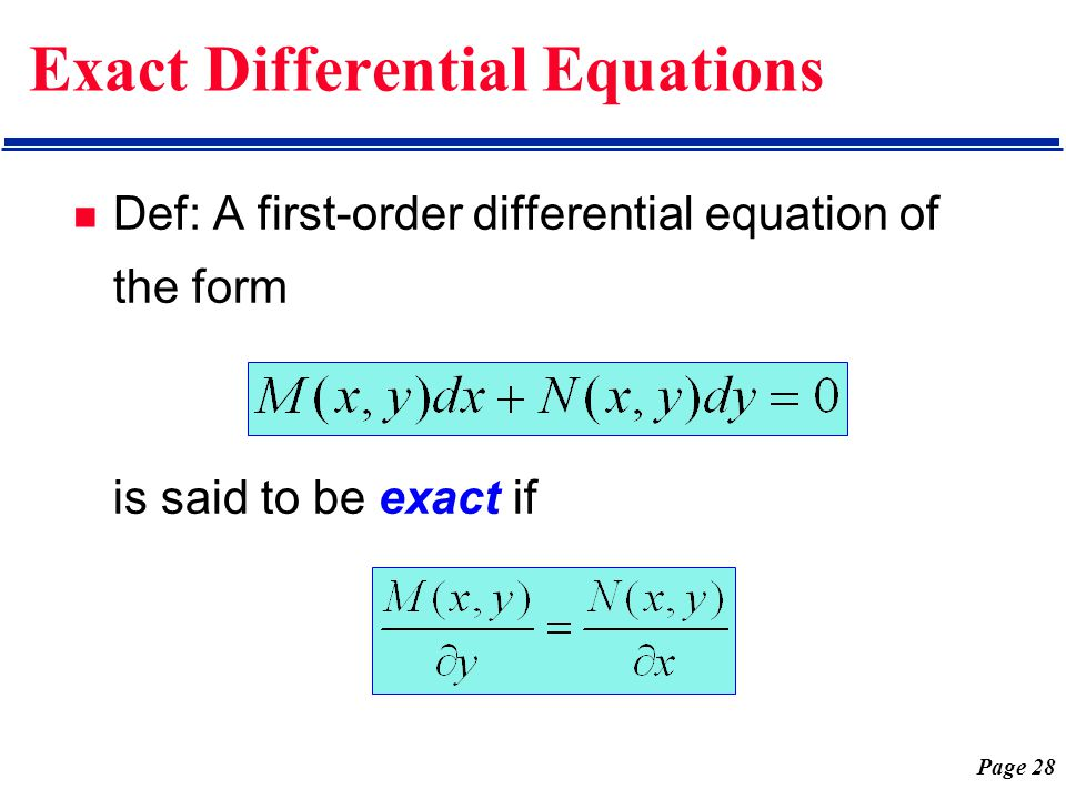 Chap 1 First-Order Differential Equations - ppt video online download
