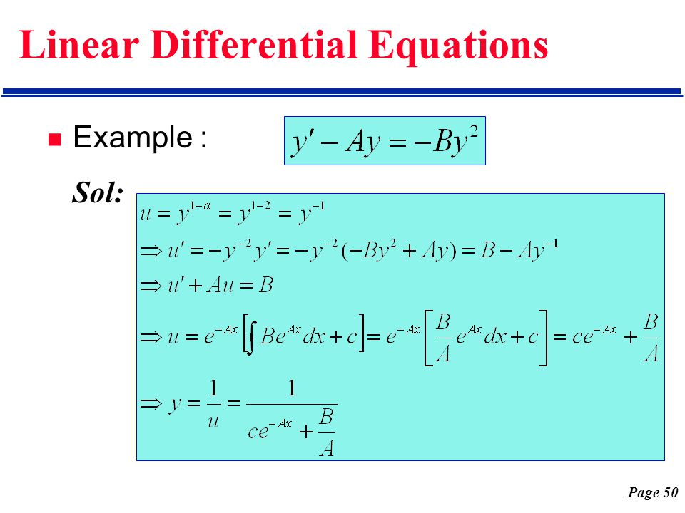 how to solve second order differential equations examples