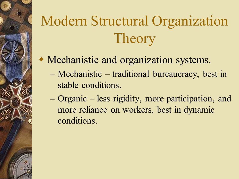 bureaucracy and modern organization Bureaucracy: bureaucracy, specific form of organization defined by complexity, division of labour, permanence, professional management, hierarchical coordination and control, strict chain of command, and legal authority.