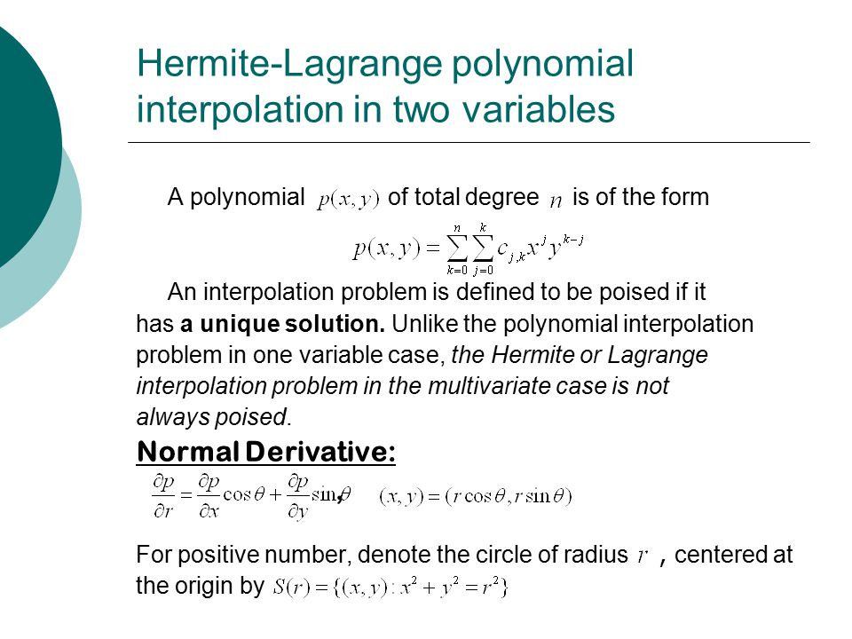 polynomials in one variable Polynomials in one variable should be written in order of decreasing powers if this is the case, the first term is called the lead coefficient.