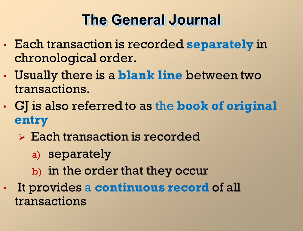 The Journal and Source Documents - ppt video online download