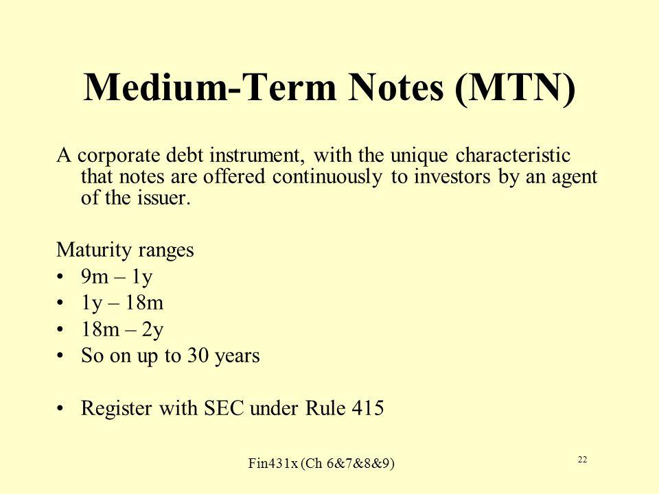 medium term notes vs commercial paper