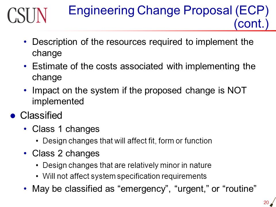 change proposal Submit a written proposal for a title change after a positive evaluation or when new responsibilities are introduced.
