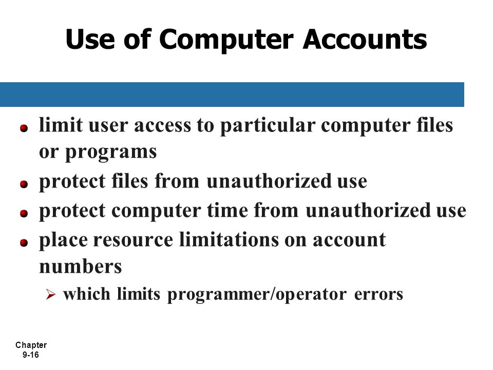 Use of Computer Accounts