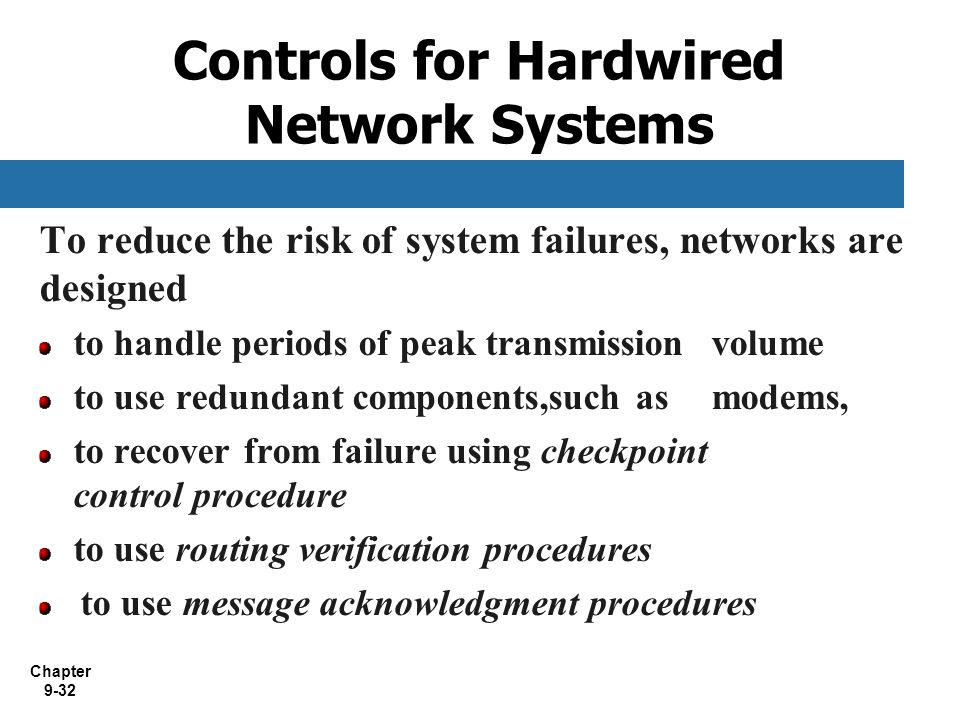 Controls for Hardwired Network Systems