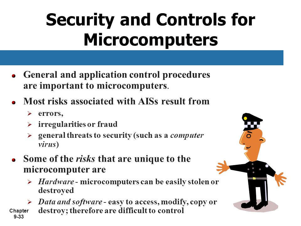 Security and Controls for Microcomputers