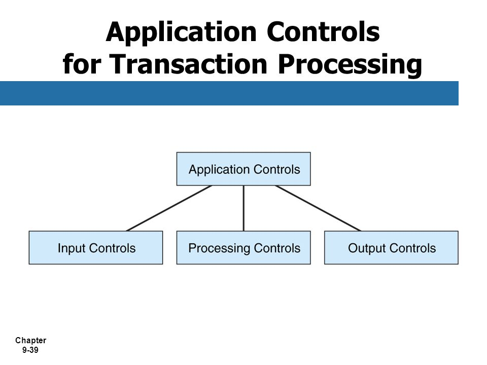 Application Controls for Transaction Processing