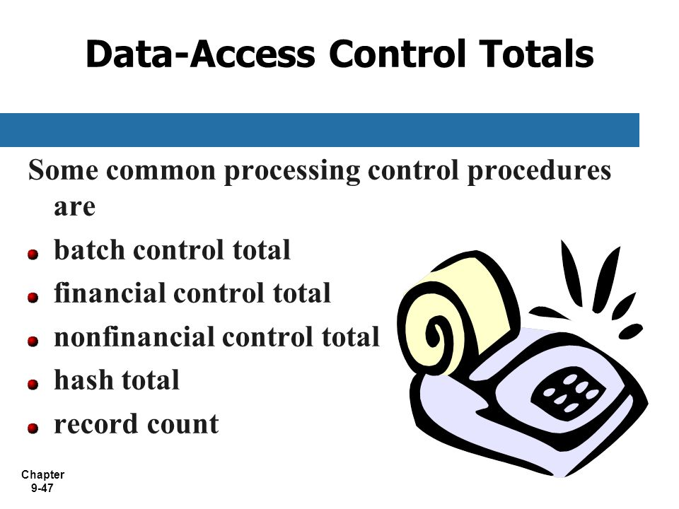 Data-Access Control Totals