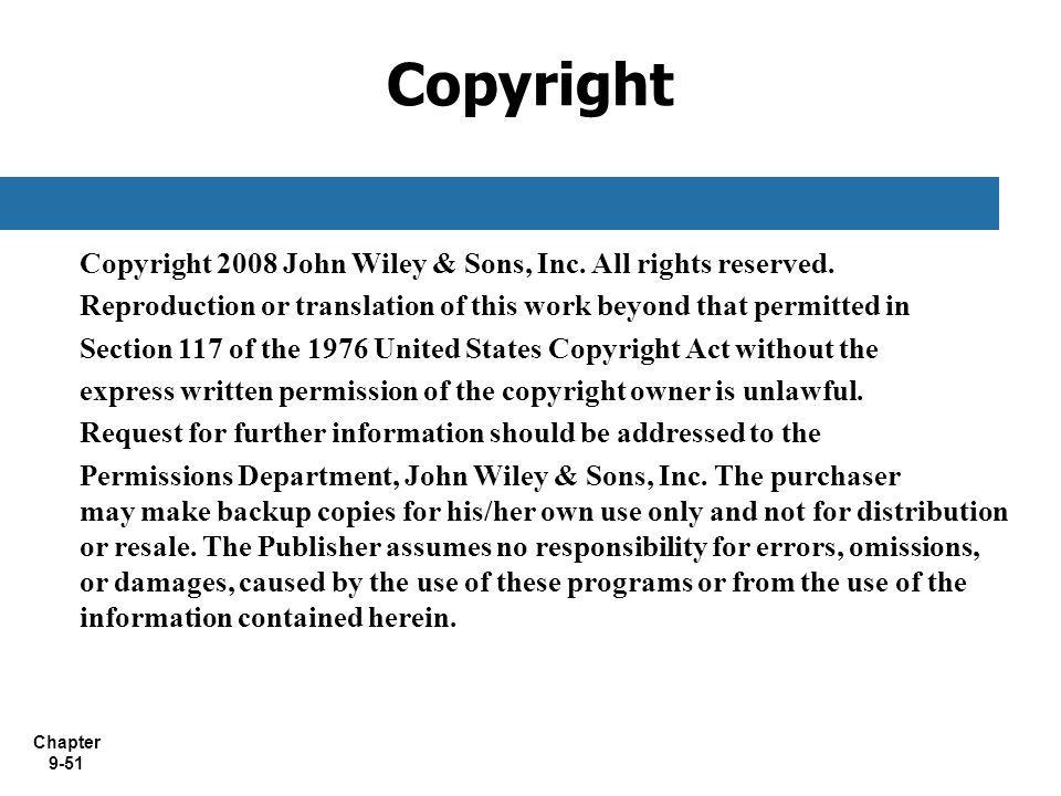 Copyright Copyright 2008 John Wiley & Sons, Inc. All rights reserved.