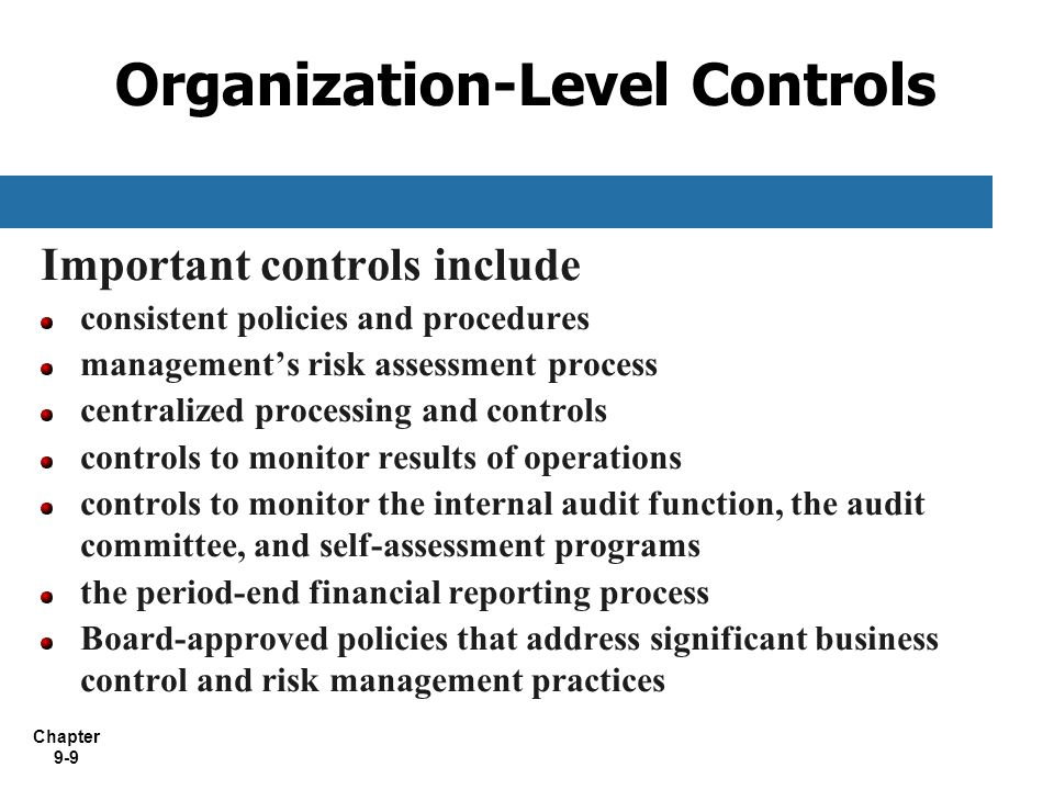 Organization-Level Controls