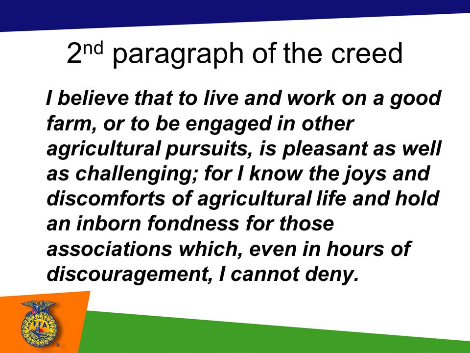 2nd paragraph of the creed