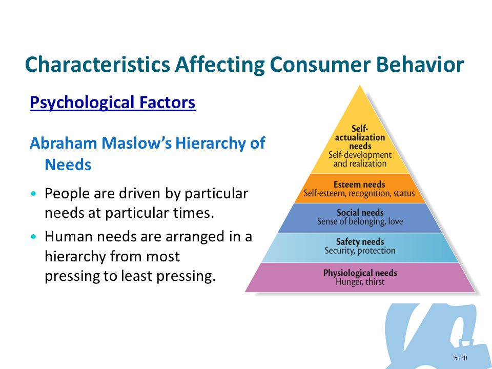 Consumer behaviour maslows hierarchy