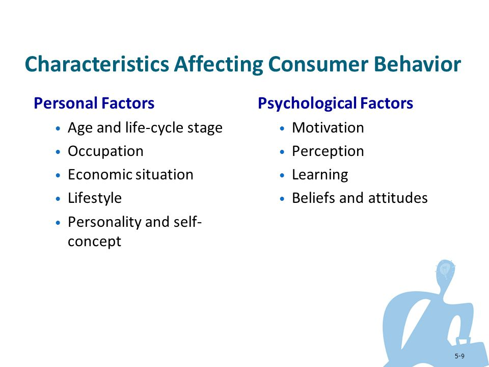 personality and consumer behavior Coverage includes how the internal factors including personality affect a consumer's purchase decision including a look at self concept.