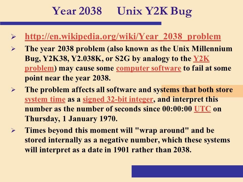 The millennium bug also known as the y2k problem and how to address it