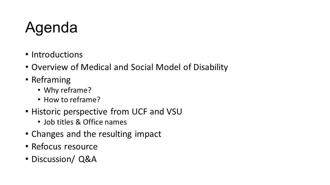 models of disability outcome 1