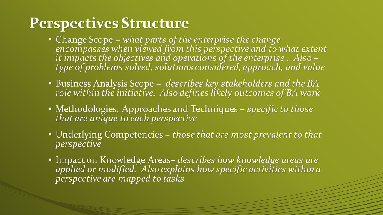 Perspectives Structure