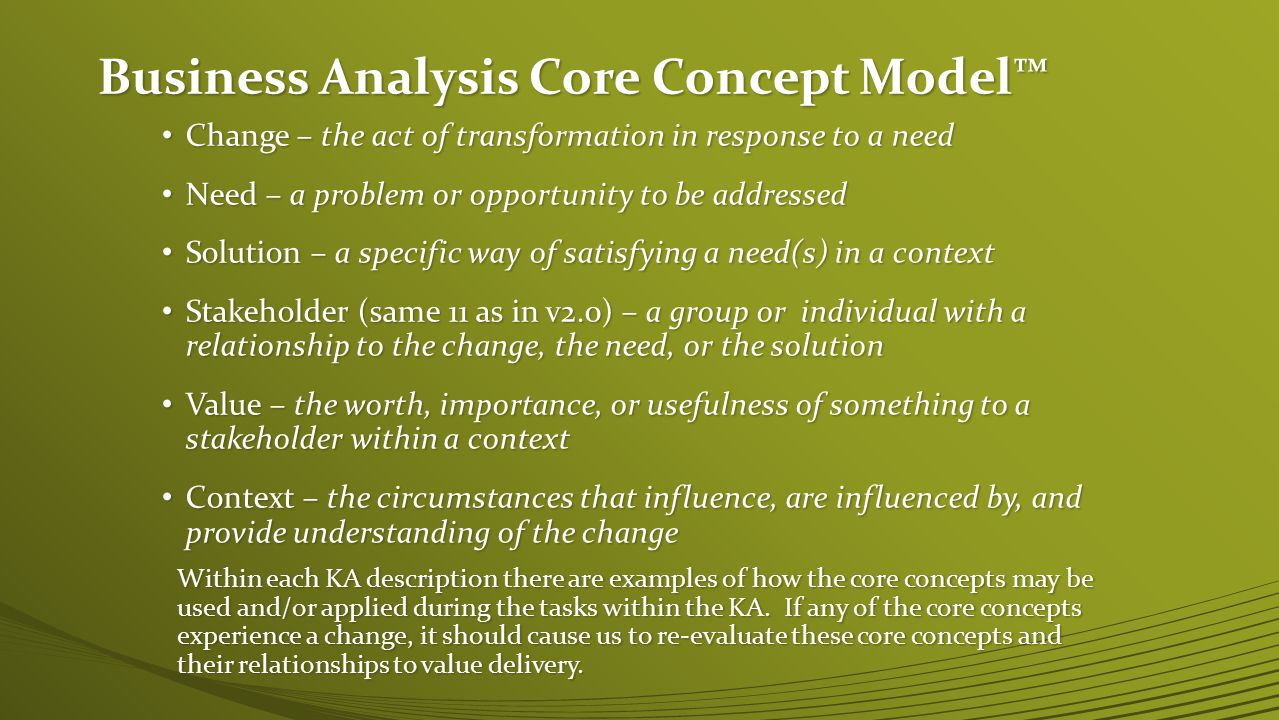 Business Analysis Core Concept Model™