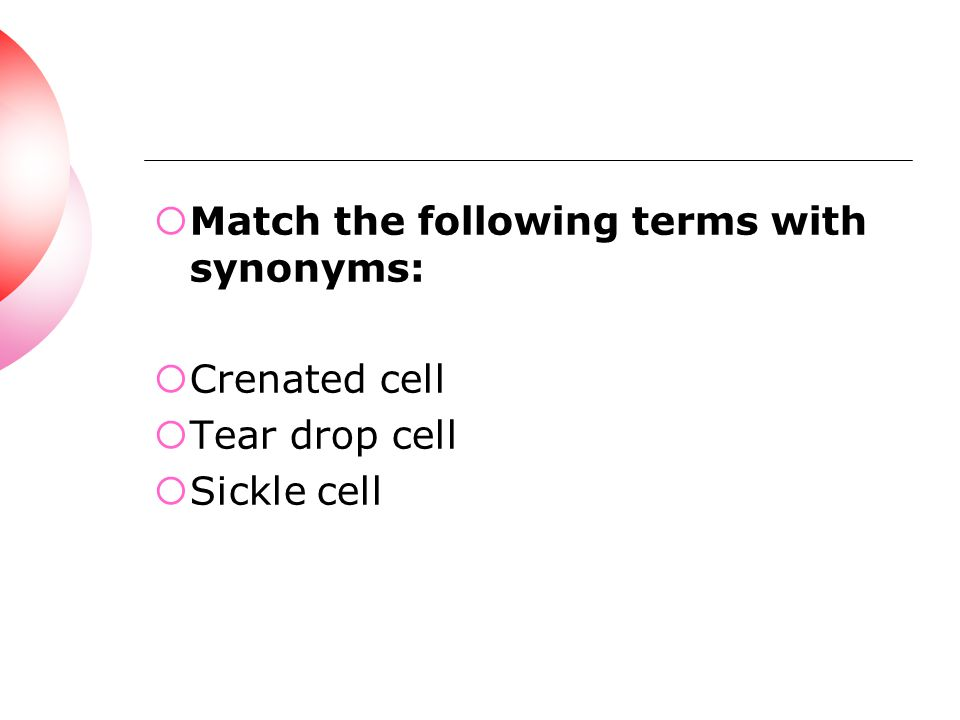 Match the following terms with synonyms: