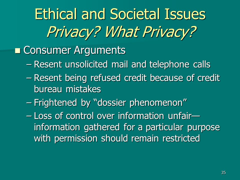 Being watched ethical issues on privacy