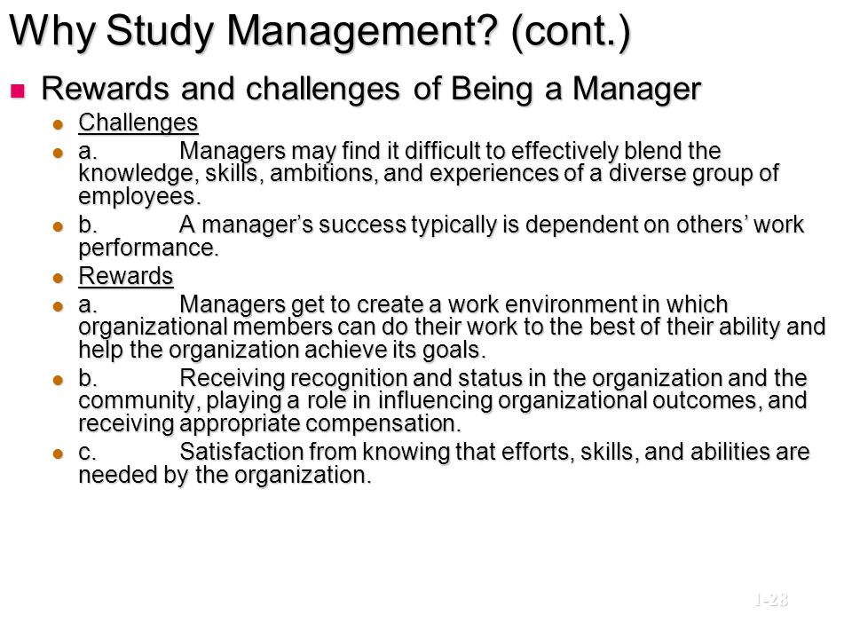 Why Study Management (cont.)