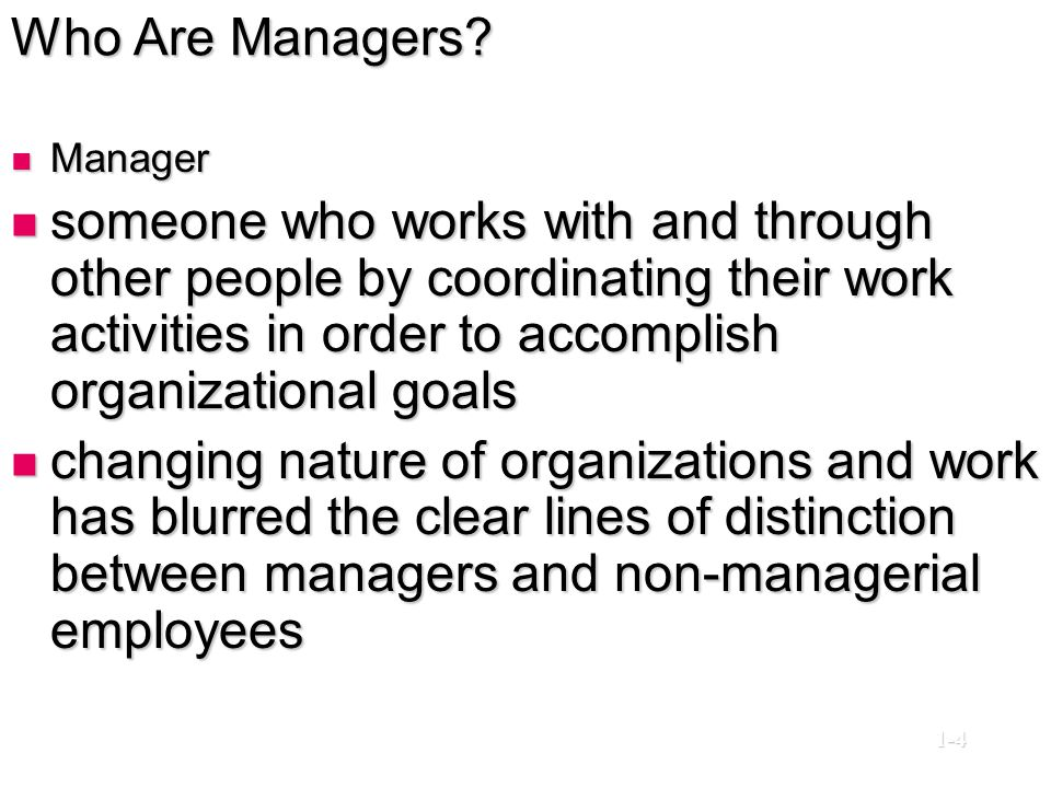 Who Are Managers Manager.