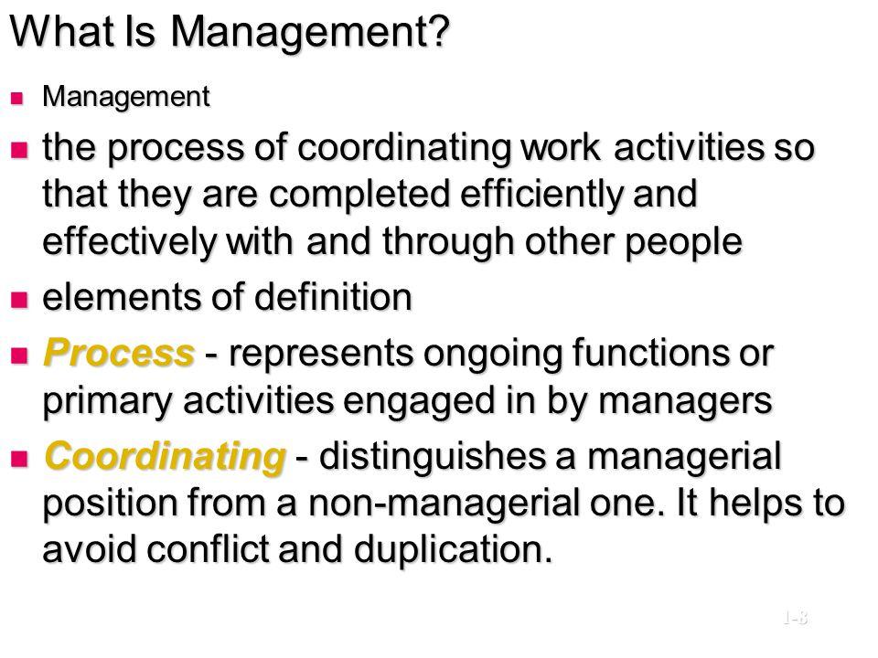 What Is Management Management.