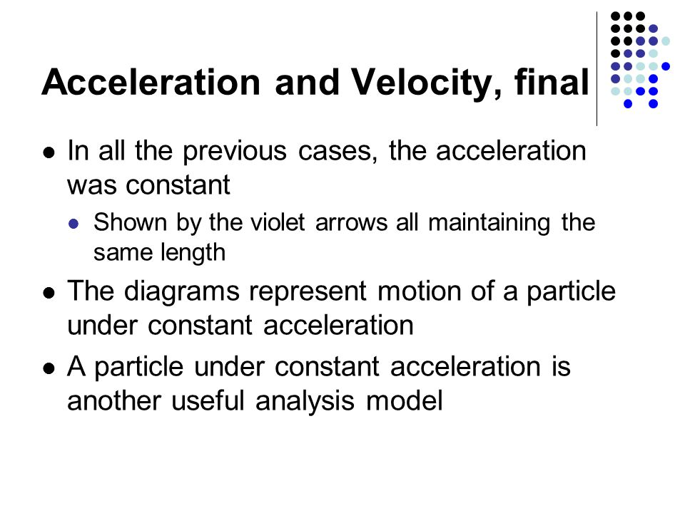 how to find final velocity with acceleration