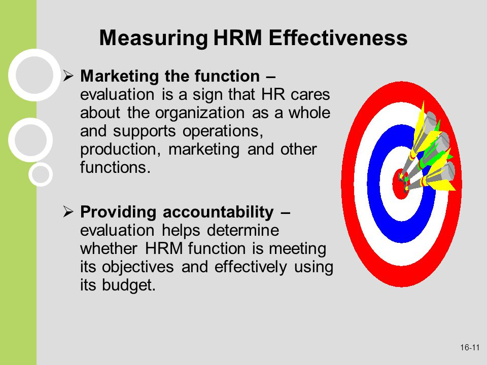 evaluating hrm s contribution organisational effectiveness In an effective organization, employee developmental needs are evaluated and   performance and acknowledging their contributions to the agency's mission.