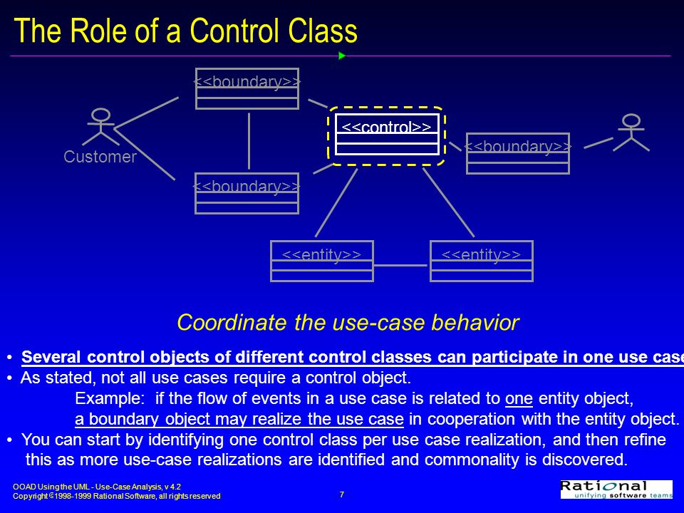 The Role of a Control Class