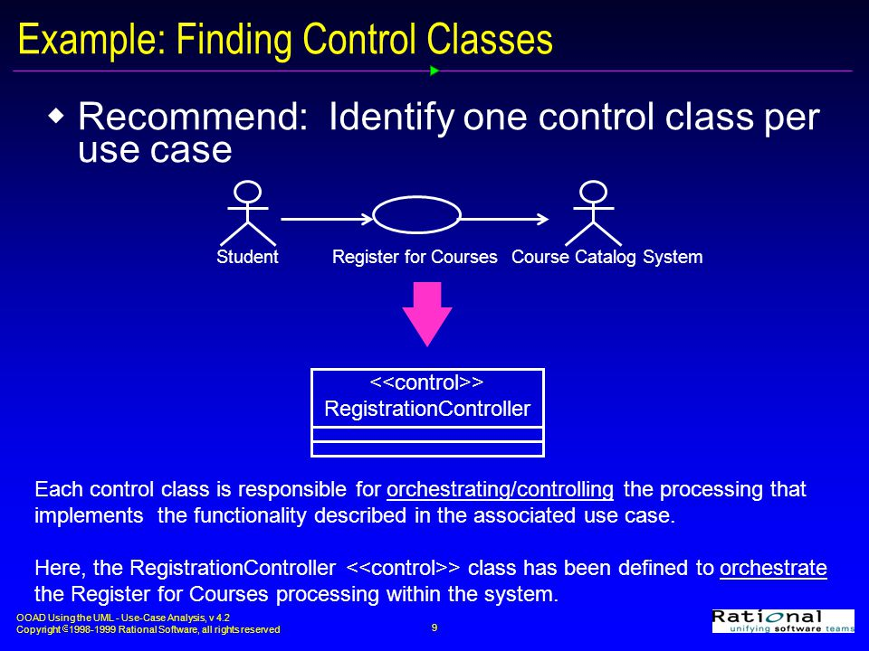 Example: Finding Control Classes