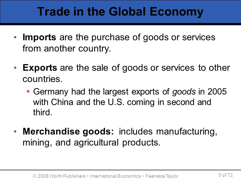 international economics and u s exports The united states is the world's third biggest exporter, yet exports account only for  reported value for - united states exports  economics members.