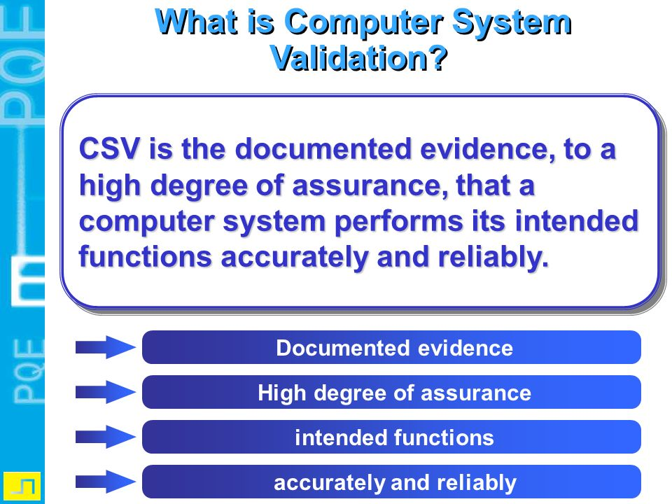 What is Computer System Validation