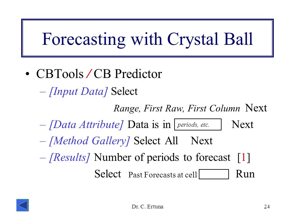 crystal ball excel