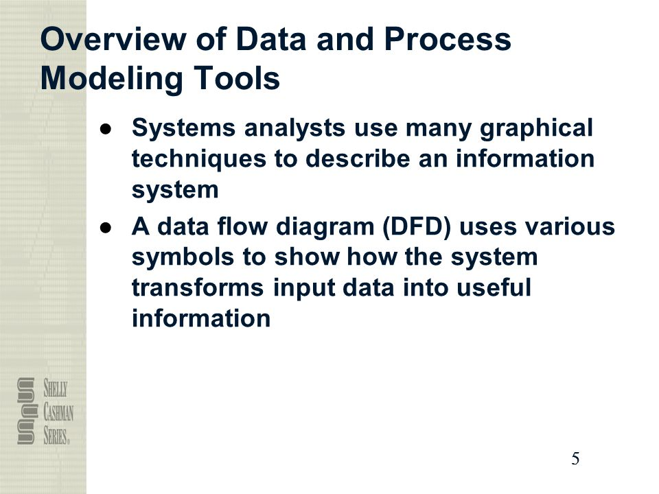 Overview of Data and Process Modeling Tools