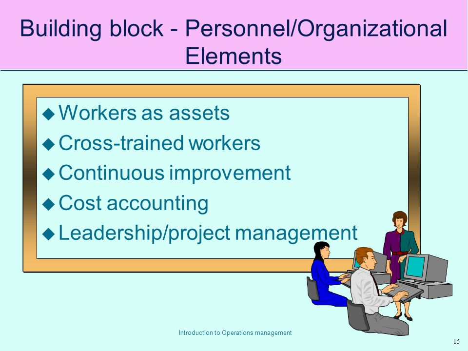 Building block - Personnel/Organizational Elements