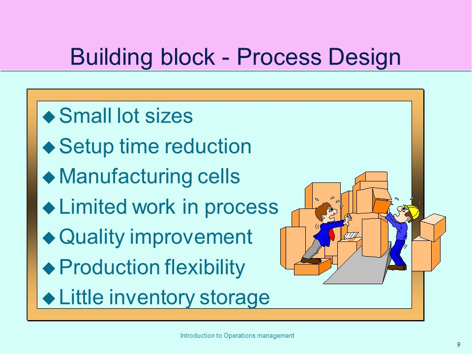 Building block - Process Design