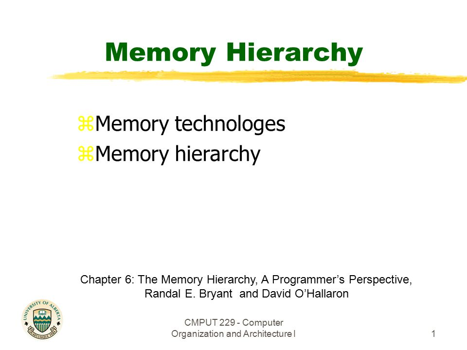 memory hierarchy in computer architecture pdf