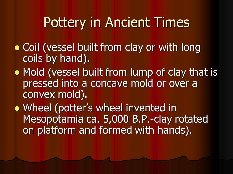 Pottery in Ancient Times